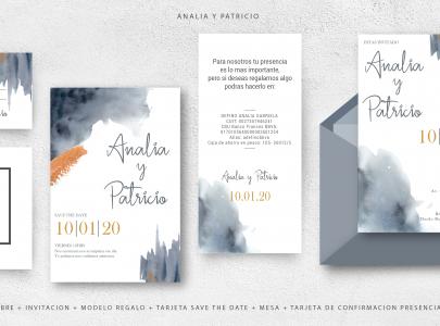 Papeleria Casamiento – Analia y Patricio